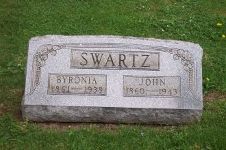 Byronia & John Lewis Swartz Headstone