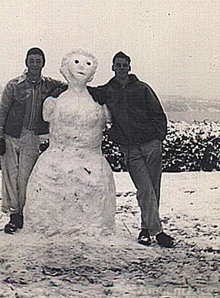 Jim Wiley, Harry Johnson, & friend
