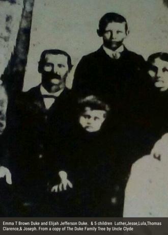 Elijah Jefferson Duke Family