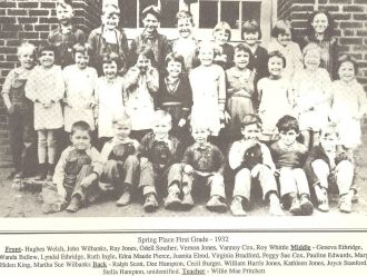 Juanita Elrod, 1932 Georgia, Spring Place School