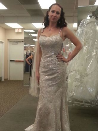 Ava Noralei Reed; Wedding Dress fitting