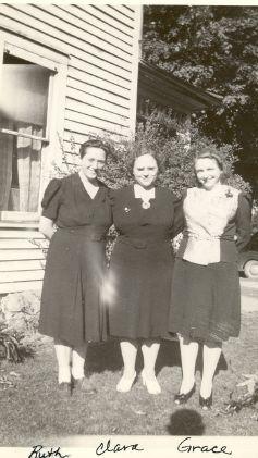 Ruth, Clara, and Grace Carr