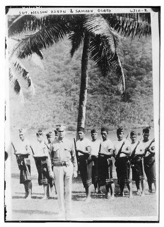 Sgt. Nelson Huron & Samoan Guard