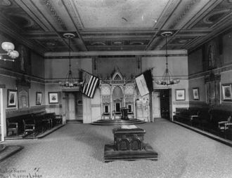 Lodge Room, Paul Revere Lodge, F. + A.M.