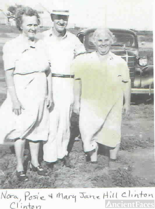 Nora, Posie & Mary (Hill) Clinton