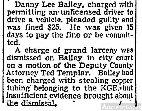 Daniel  Lee Bailey - Fined