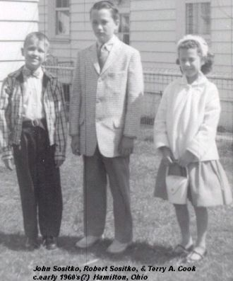Terry Cook with her cousins on Easter