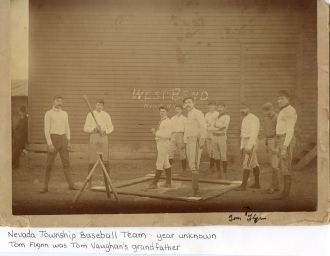 Nevada Township, Iowa:  Baseball Team