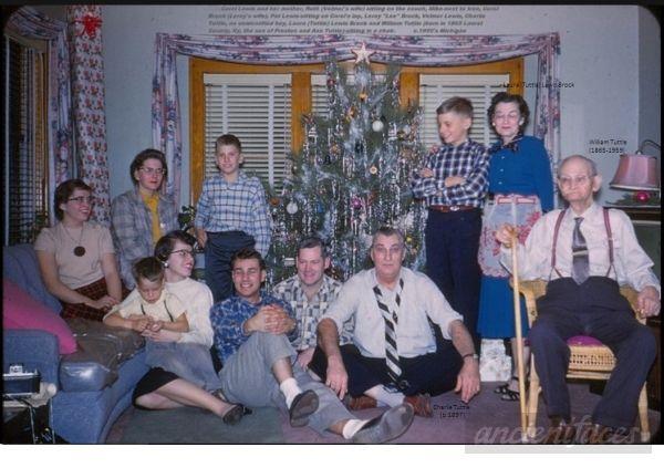 Tuttle-Lewis-Brock Family Christmas, 1950's