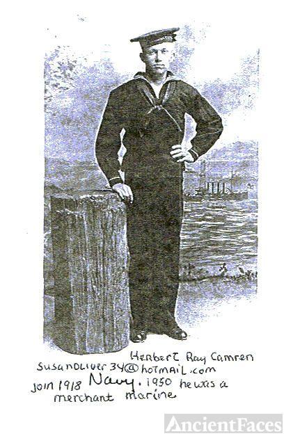 herbert in a blue Navy Uniform