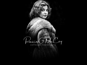 Joy Garrett in her fur coat - circa 1977