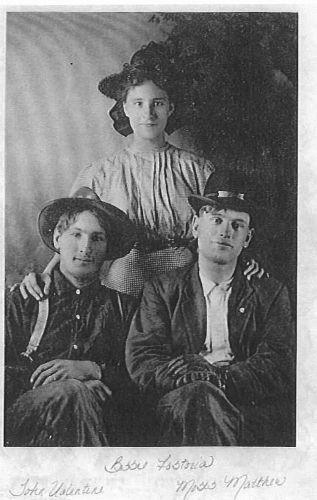 John V., Bessie, and Moses Shockey