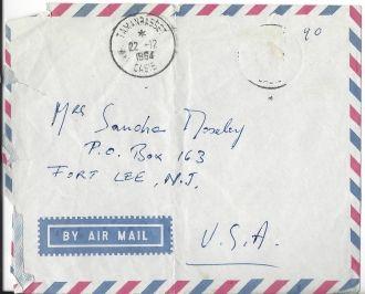 Victor Englebert letter to me from Africa 1964