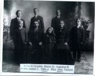 Willis Brown and Alice Matilda Dinsdale