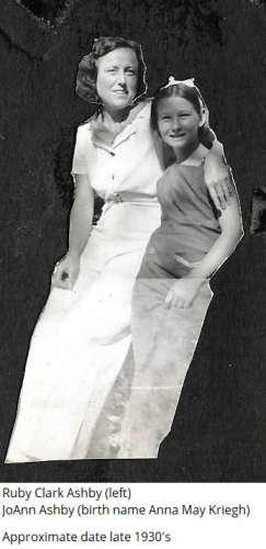Ruby Clark Ashby and JoAnn Ashby