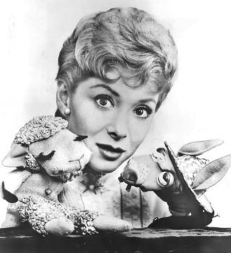 Shari Lewis with Lamb Chop & Charlie Horse