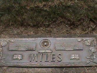 Zears L Miles Gravesite