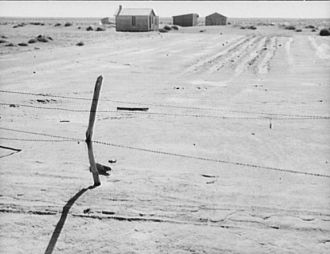 Texas Farm, Dust Bowl Devastation, 1938