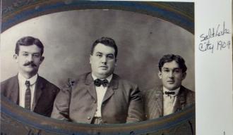 Edmund Henry Murphy's sons Edmund  henry Murphy jr Charles Francis Murphy snd Arthur john Murphy (aj) in Salt Lake City pic has year on right side