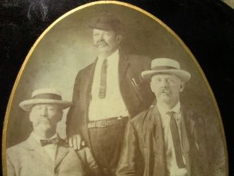 William, Albert, and Jacob Jarrell, brothers, on occasion of a visit home by William