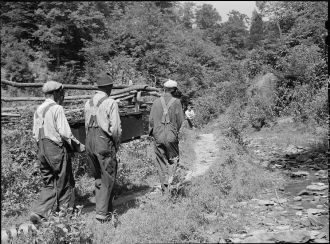 Carrying a coffin in Kentucky 1940