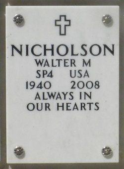 Walter Marshall Nicholson gravesite