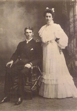 George Clark Snyder & Dove Avilla Osborn wedding 1904