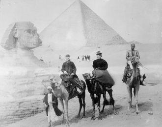 Sphinx and Giza Pyramid