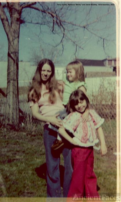 Terry, Becky and Jamie Bradley, 1978