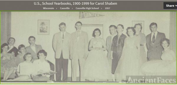 Carol Lee Shaben-Wentz--U.S., School Yearbooks, 1900-1999(1957)Junior Class Play