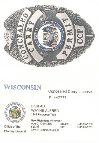 Concealed Carry Badge & Permit
