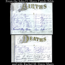 Marrs Family Bible