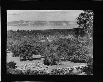 View from Kijkuit, John D. Rockefeller's estate