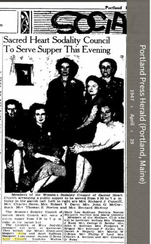 Anne Louise Connell-Coughlan--Portland Press Herald (Portland, Maine)(29 Apr 1947)