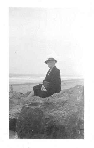 Mary Hannigan on the beach San Francisco