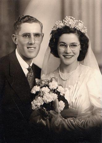 Elmer & Norma (Roos) Dettmer Wedding