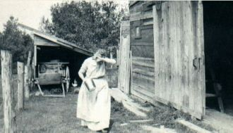 Mary Ann Healey in Barnyard