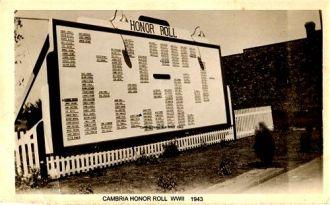 Cambria IL honor roll