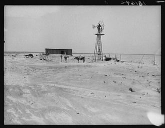 Barn and shed of farm in the Texas Panhandle. Near Boise...
