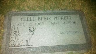 Clell Pickett gravesite