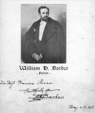 William H Barber Pianist