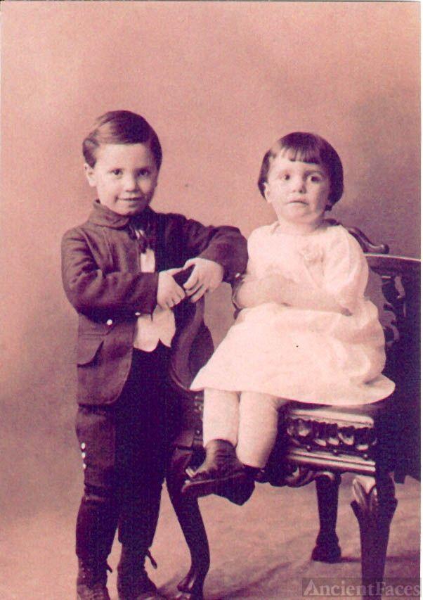 Benn brother and sister, Leon & Dottie [Hodgdon, ME]