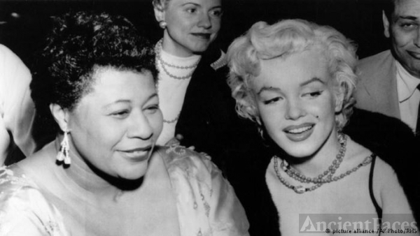 Ella Fitzgerald and Marilyn Monroe