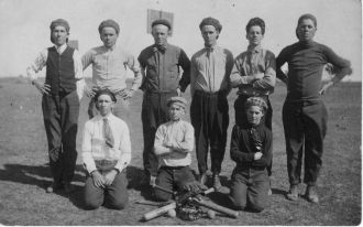 Cayote School, Bosque County, Texas Baseball Team