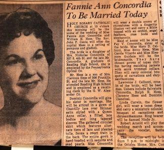 "Shirley ""Fannie"" (Concordia) Hess"