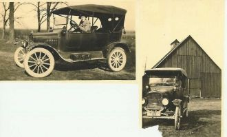 Elsie (Carr) and John I. Tyree In Their First Car
