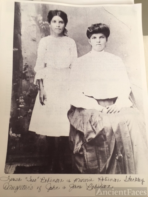 Theresa Robinson and Minnie Shockley