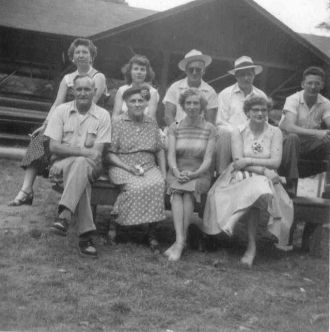 Lena Wells Williams and 8 of her 12 children