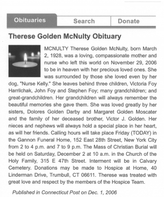 Therese Golden McNulty's Obituary.