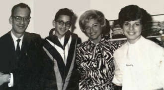 Jacob (Jack) Weiss son Mark Weiss, wife Gertrude Weiss, and daughter Diane Weiss.